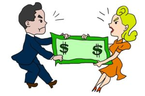 Money may not be shared property