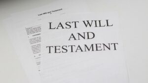 A person's last will and testament